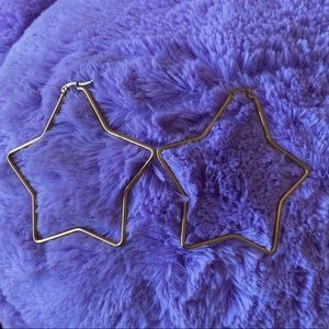 ✨Host Pick✨ Gold Plated Star Shaped Large Earrings